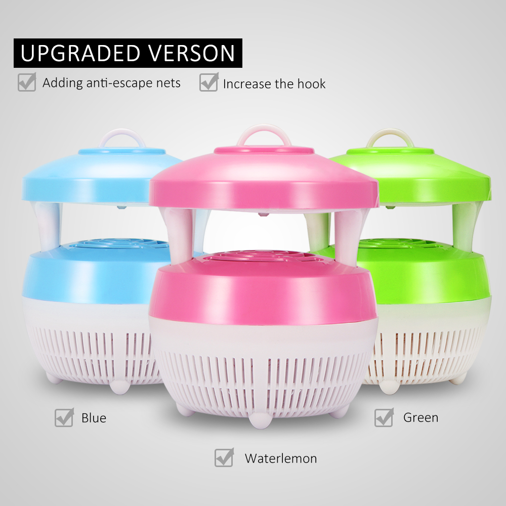 Portable LED Insect Killer Household Mosquito Bite Trap Lamp DC 5V Strong Suction USB Device Power Supply Use Safety