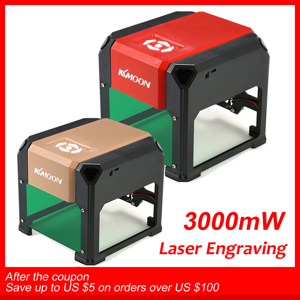 KKmoon 3000 mw Nova Alta Velocidade Máquina de Gravação A Laser USB DIY Carving Gravador Automático K5 Tipo Queima De Ferramentas De Madeira de Artesanato
