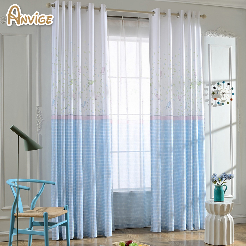 Half Blackout Curtain Window Cortina Bedroom Curtains For Living Room  Curtain Kitchen Window Curtains Drapes(
