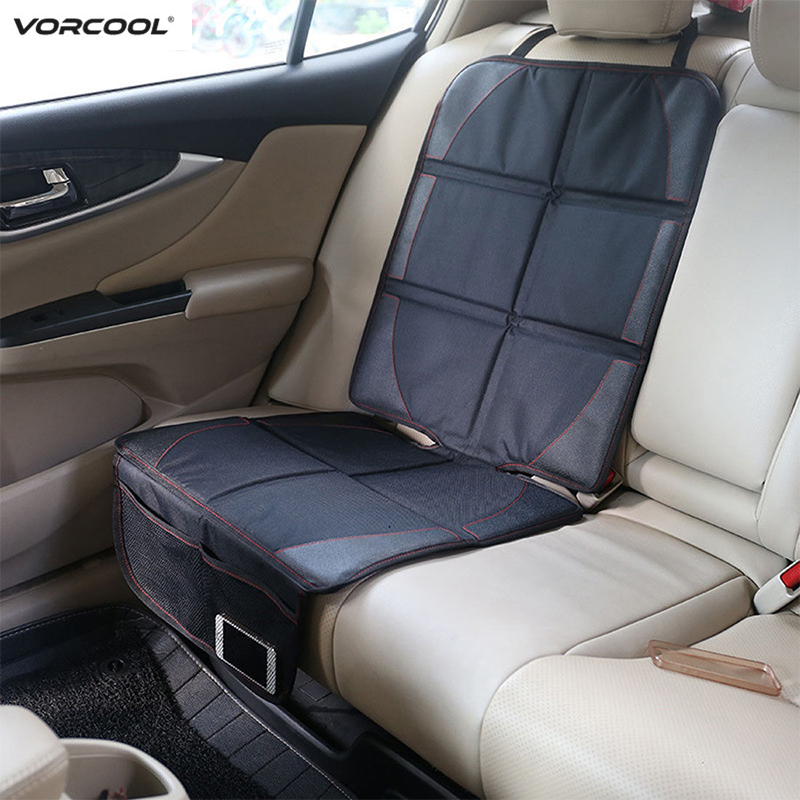 123*48cm Car Seat Cover Oxford PU Leather Seat Protector Cover With Pocket For Child Baby Seat Cushion Mat Car Accessories(China)