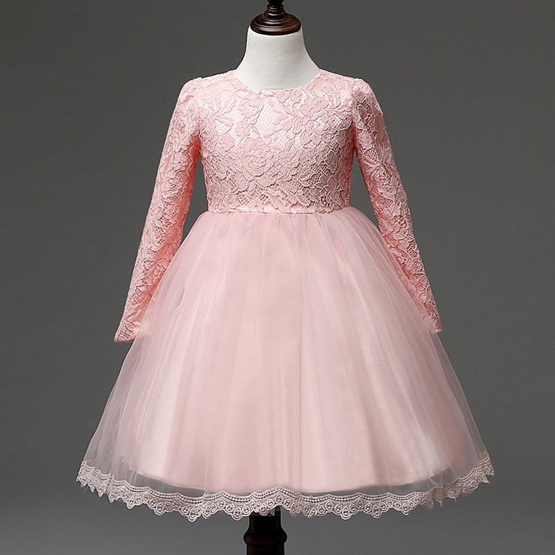 Girls Party Wear Clothing for Children Summer Long Lace Princess Wedding Dress Baby Girls Teenage Well Party Prom Dress цена