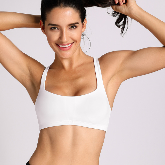 Women's Light Support Wirefree Cross Back Sports Bra