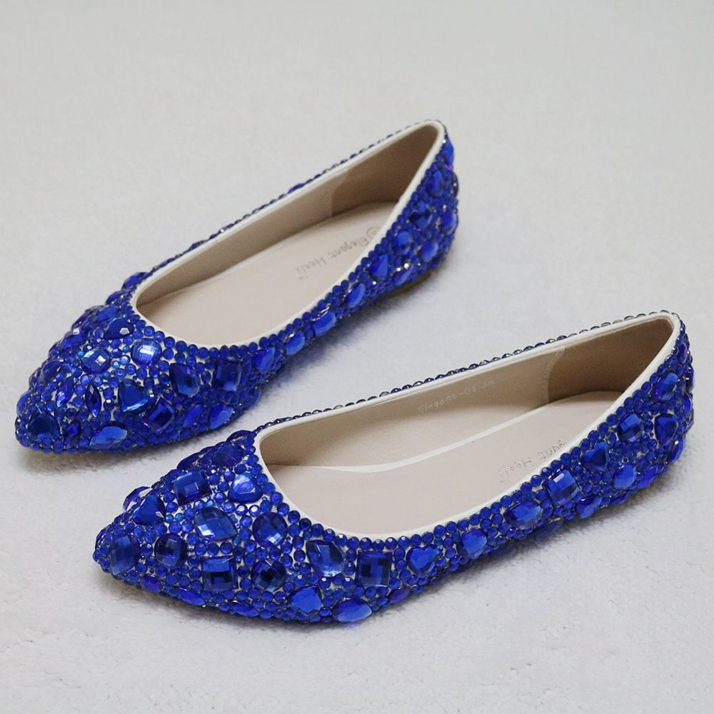 Flat Royal Blue Wedding Shoes