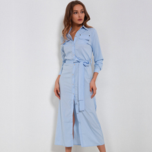 b6e8b9dc0226 H 2018 Long Dress Shirt Women Bandage Tunic Work Dress Office Lady Long  Sleeve