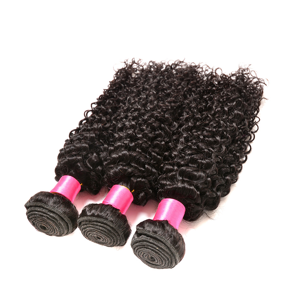 BOL Brazilian Hair Weave 3 Bundles Afro Kinky Curly Hair Weave 100% Remy Human Hair Extension Double Weft Soft Hair Bundles