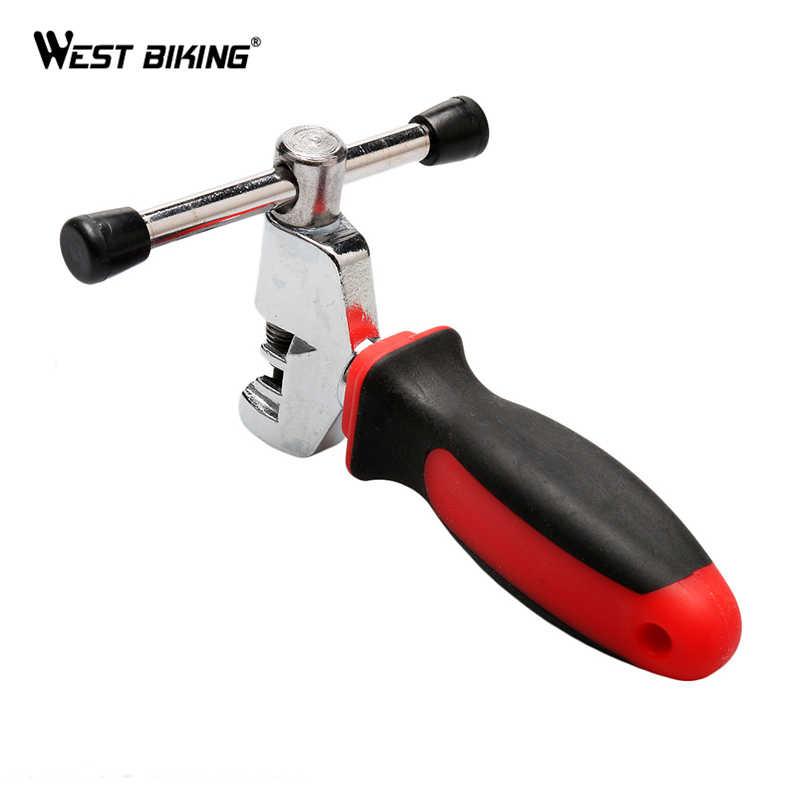 Запад biking велосипед цепи Выключатель Резак Для Удаления Инструмент Для Снятия Цикл Сплошной Ремонт Инструменты Велосипеды цепи Булавки сплиттер устройство
