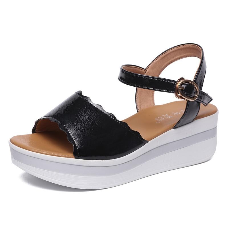 chaussures moyens à d'été Grande femme Sandales taille 2018 33 43 pour compensées talons 0awv0