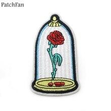 Patchfan красота и чудовище настоящая любовь Роза аппликация нашивки наклейки рубашка сумка Джерси одежда para значки железная футболка A0945