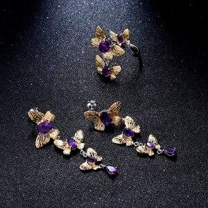 Image 5 - GEMS בלט 925 סטרלינג כסף בעבודת יד אבני חן טבעת תכשיטי בסדר 2.04Ct טבעי אמטיסט פתוחות להתאמה עבור נשים