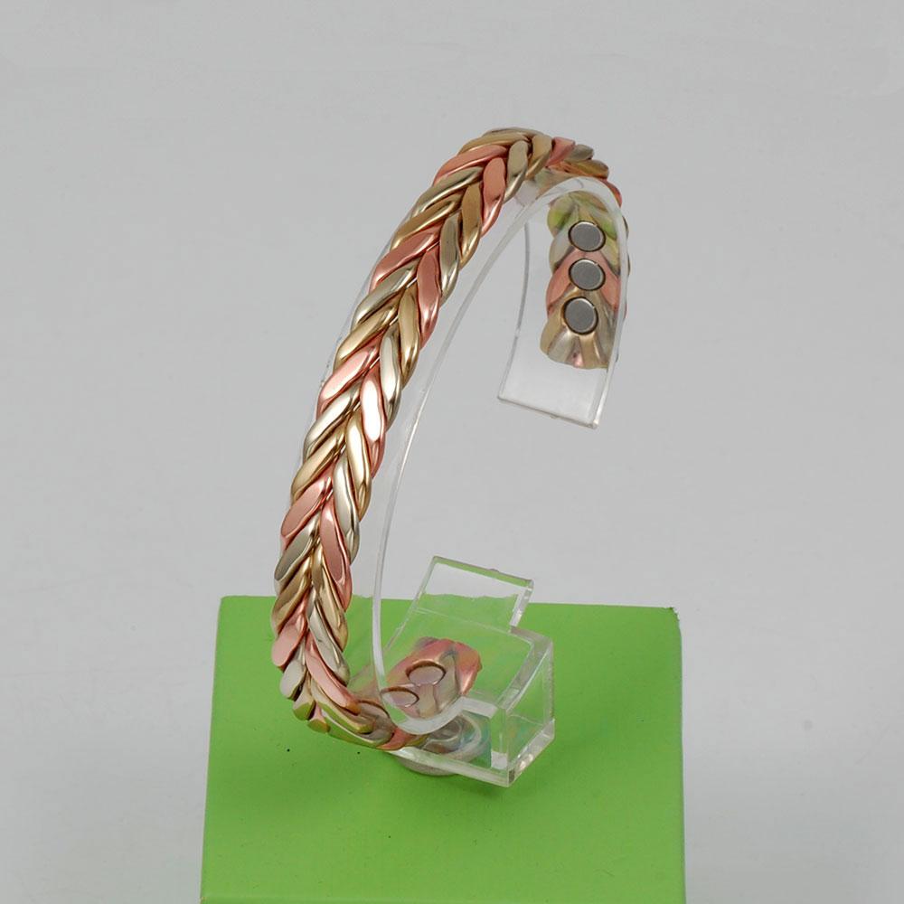 Wollet Schmuck Open Cuff Magnetic Copper Armreif für Frauen Rose - Modeschmuck - Foto 2