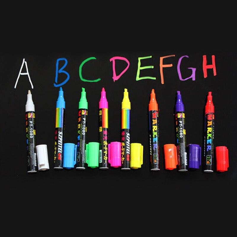 freen shipping 8pcs 8 color highlighter fluorescent liquid