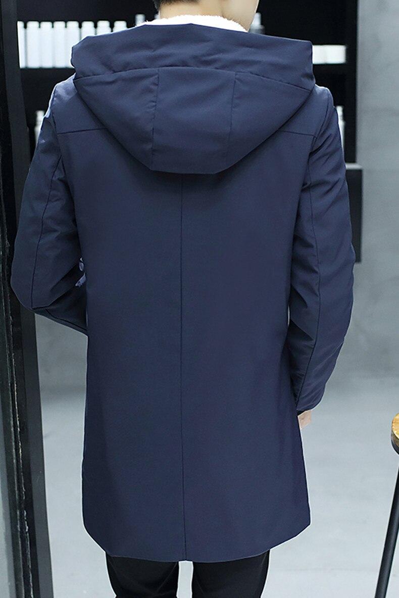 c2543cb8d7f94 ... que antes de sobornar un 2018 chaqueta de invierno hombres con capucha  coreano Delgado Parka Hombre Chaqueta larga para Hombre de la Cachemira  cazadora ...