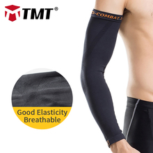 TMT 1 pcs Compression Running Cycling Arm Sleeves Sun UV Protection Basketball Volleyball Golf Sports Arm warmer Bicycle Cycling