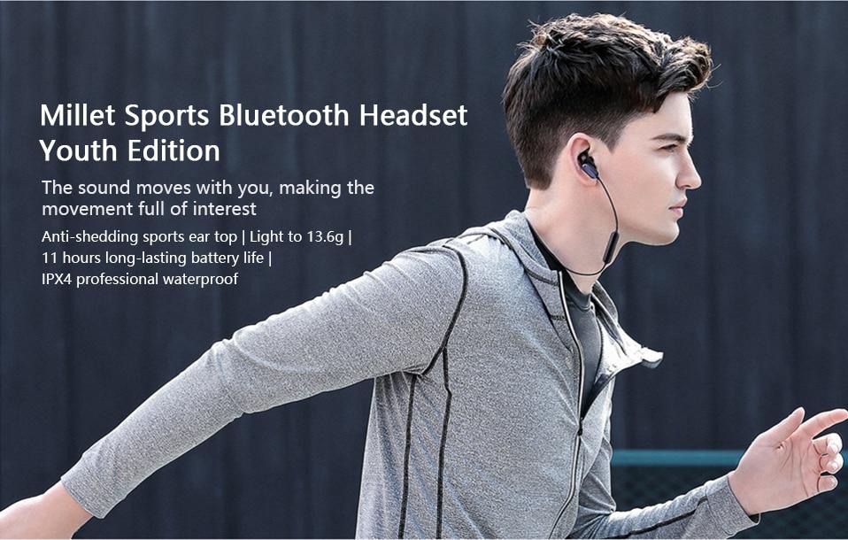 Xiaomi Sports Earphone Bluetooth 4.1 Youth Edition Version Headphones Wireless Bluetooth Headset running AI Control Mi Headsets (1)