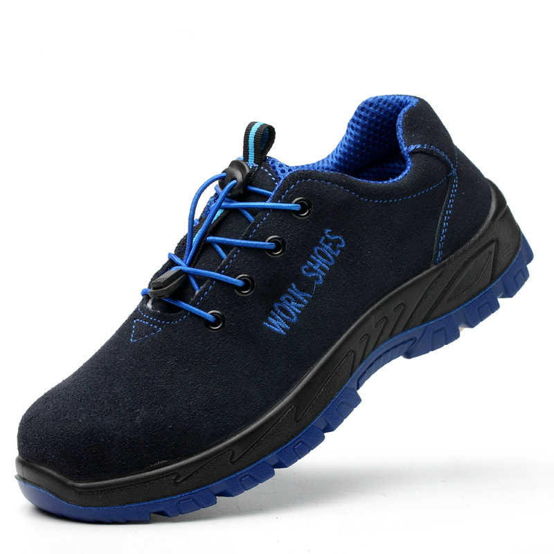 Artı boyutu erkekler moda çelik burun iş güvenliği ayakkabıları anti-pierce platformu şantiye işçi güvenlik botları zapatos hombre