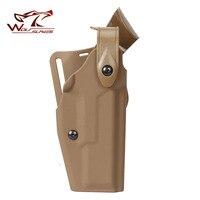 Тактический Airsoft пистолет Safriland 6320 кобура Военная Униформа талии Глок 17 19 22 23 кобура тактическая пистолет без фонарик