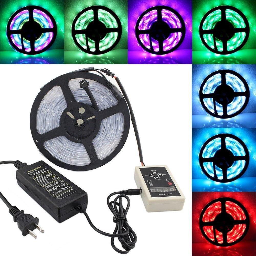 10 M 5050 RGB Dream Color Magic 6803 IC LED lumière de bande + 133 changement RF télécommande + adaptateur d'alimentation - 2