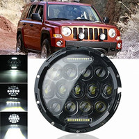 75W 7 Inch LED Headlights Bulb For Wrangler JK CJ Hummer H1 H2 LED Projector Driving