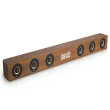 Soundbar Home Theater Sistem Audio Musik Pusat Bioskop 30W TV Kolom Dinding Kayu Speaker Bluetooth untuk TV Jam tampilan(China)