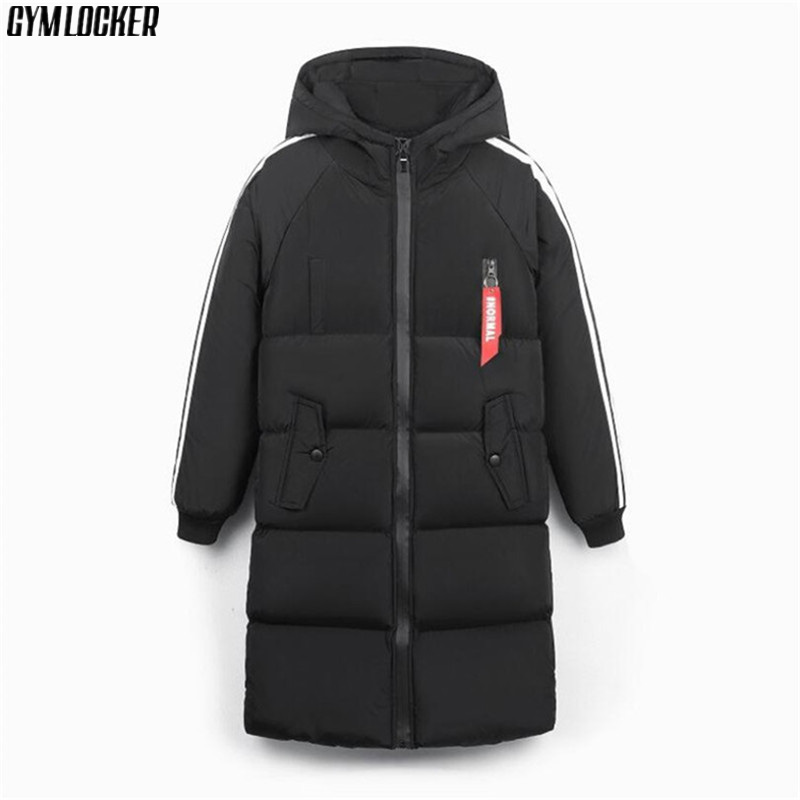 GYMLOCKER High-quality 2018 Thick Warm Winter Jacket Men Windproof Long Hooded   Parka   mens Solid color male   parkas   coat clothes