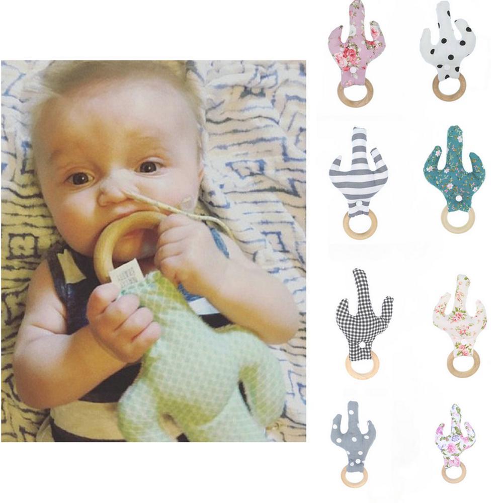 Игрушки-Прорезыватели в виде кактуса-деревянное кольцо-детская деревянная игрушка-детский деревянный Прорезыватель для зубов