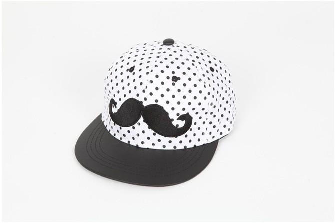 men women fashion casual cap summer short brim dot mustache