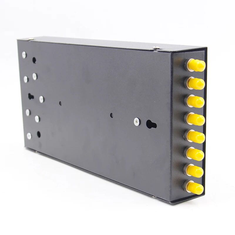 8Port Fiber Optic Termination Box ST Fiber Optic Patch Panel