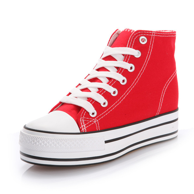 Canvas shoes fashion summer women shoes massage lace-up ladies shoes waterproof super star shoes red/blue chaussure femme