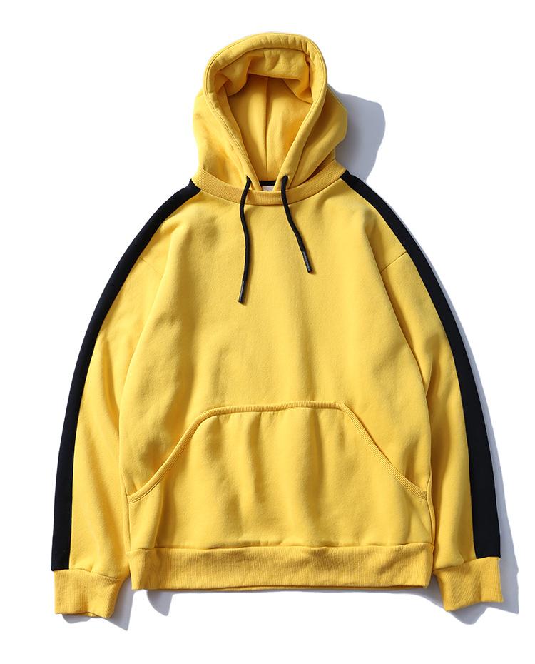 Aolamegs Hoodies Men Side Striped Hood High Street Pullover Cotton Fashion Hip Hop Streetwear Casual Big Pocket Hoodie Autumn (38)