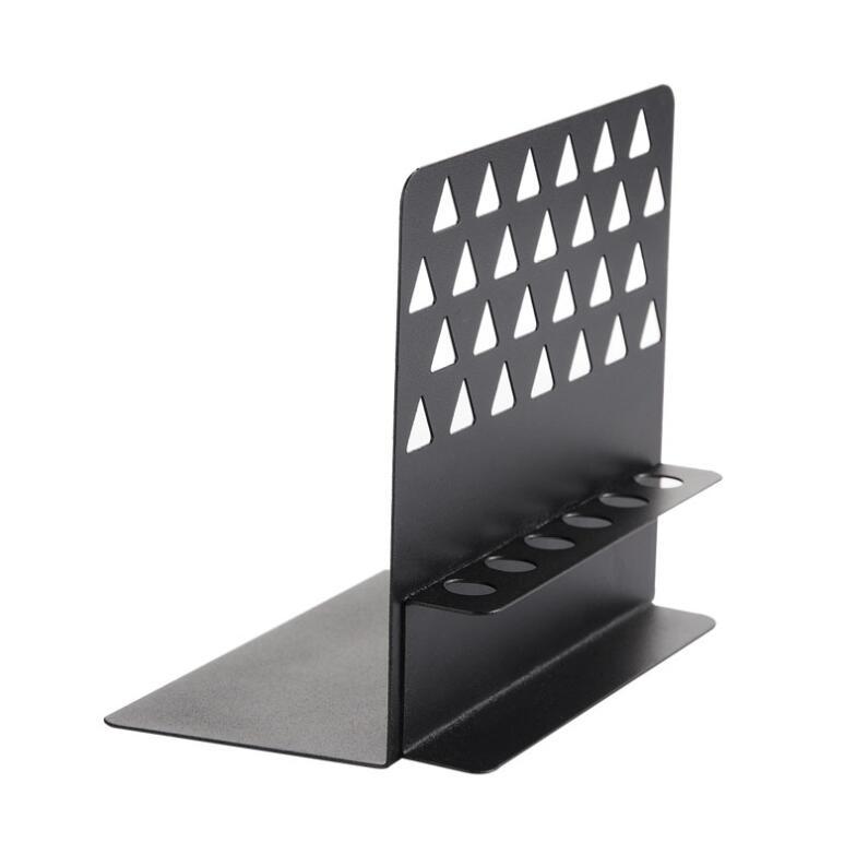 Desk Accessories & Organizer Bookends Objective 2pcs Black Acrylic Bookends L-shaped Desk Organizer Desktop Book Holder School Stationery Office Accessories