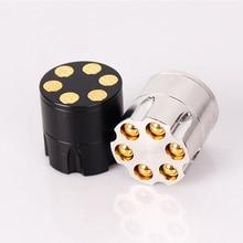 Mini Grinders 3 Layers Mental Herb Grinder Bullet Shape Zinc Alloy Crusher Hand Muller Tobacco Smoke Smoking Accessories