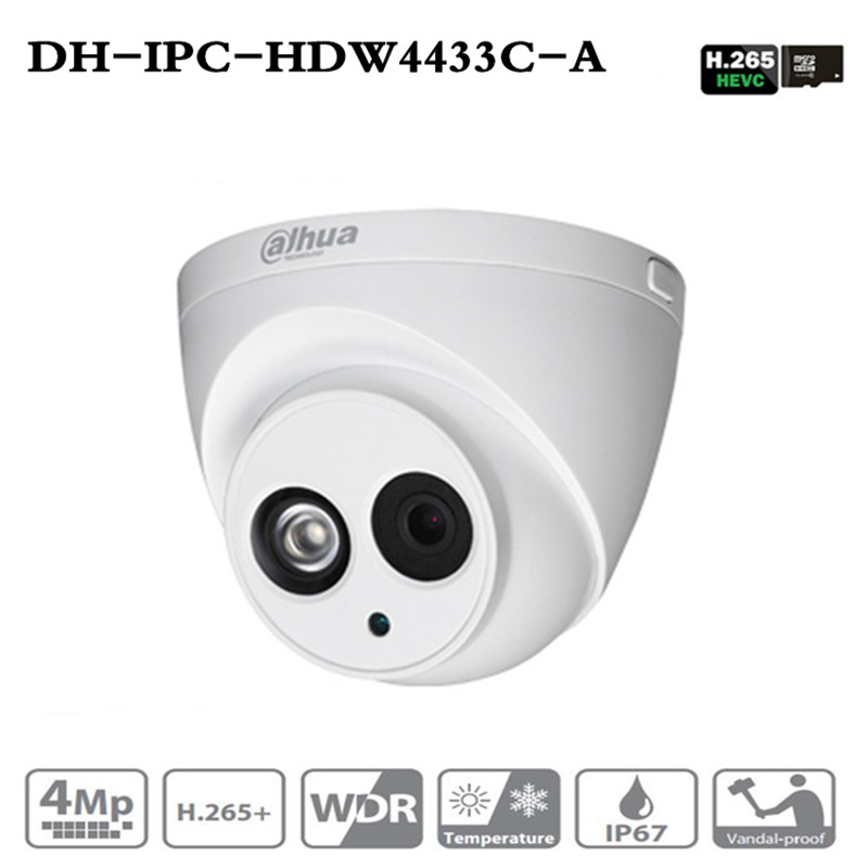 Image 1 - Original Brand IPC HDW4433C A Upgrade from IPC HDW4431C A POE Network IR Mini Dome IP Camera With Built in Micro 4MP CCTV Camera-in Surveillance Cameras from Security & Protection