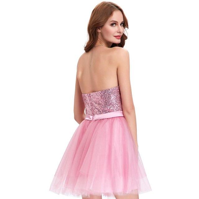 Tienda Online Elegante Rosa albaricoque lentejuelas Vestidos de ...