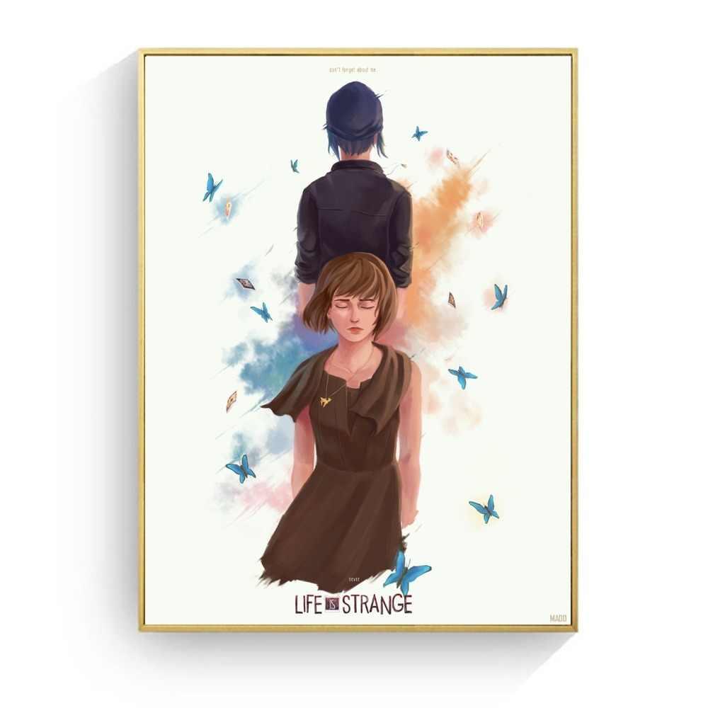 인생은 이상한 폭풍 비디오 게임 캔버스 인쇄 현대 회화 포스터 벽 예술 그림 거실 장식 없음 프레임