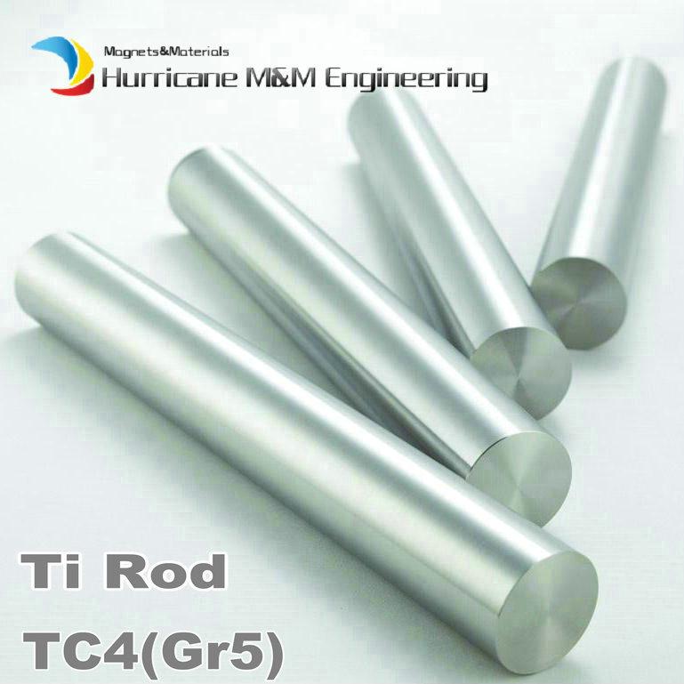 6x1000 mm TC4 Titanium Alloy Cylinder Industry Experiment Research DIY GR5 Ti Rod 1 meter Titanium Alloy bar