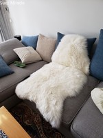 Australian wool High quality lamb skin fabric fur pieces real fur blanket furs white trim faux fur fabric accessories cushion