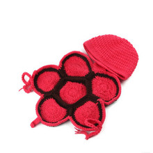 2016 New Arrival Tortoise Baby Photography Props Crochet Cotton Knit Hat Suits Infant Costume Newborn Handwork Knit Clothing