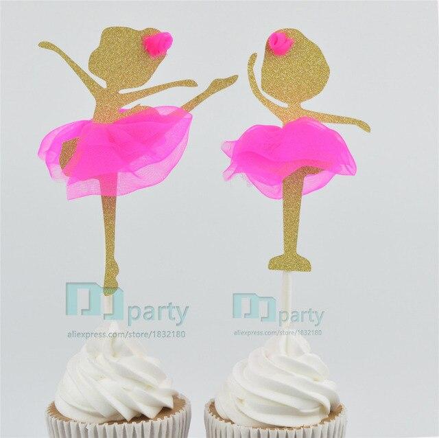 Hecho A Mano Encantadora Bailarina Ballet Girl Cupcake Toppers