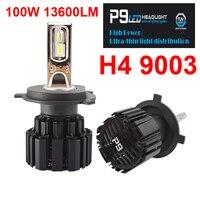 1 Set H4 CSP FLIP LED CHIPS P9 LED Headlight H7 H8 H9 H11 9005 9006 9012 LED D1S/D2S/D3S/D4S Turbo Fan Front Bulbs 100W 13600LM