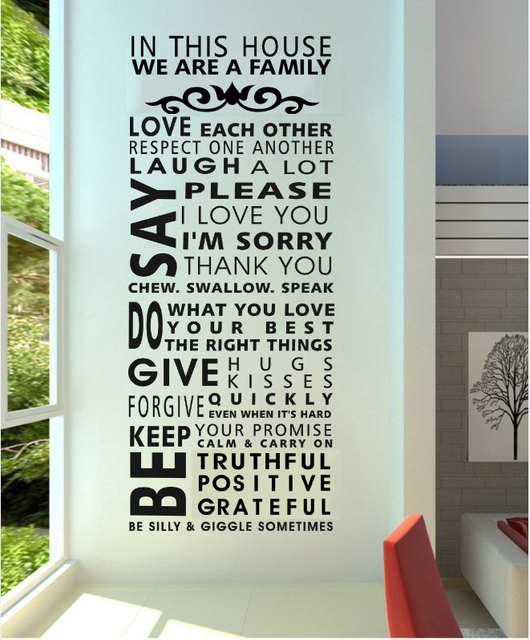 "Family/house rules/quotes/saying ""we are a family"