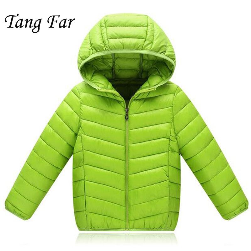 Children Winter Jacket Light Parkas Kids Girls Coat Boys Active Outerwear Jackets Baby Brand Clothing Autumn Soft 2-14 Years