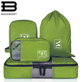 BAGSMART 4 pcs/set Fashion Travel Portable Multi-functional Travel Clothing Bag Makeup Wash Storage Bag Wire Organizer Bags