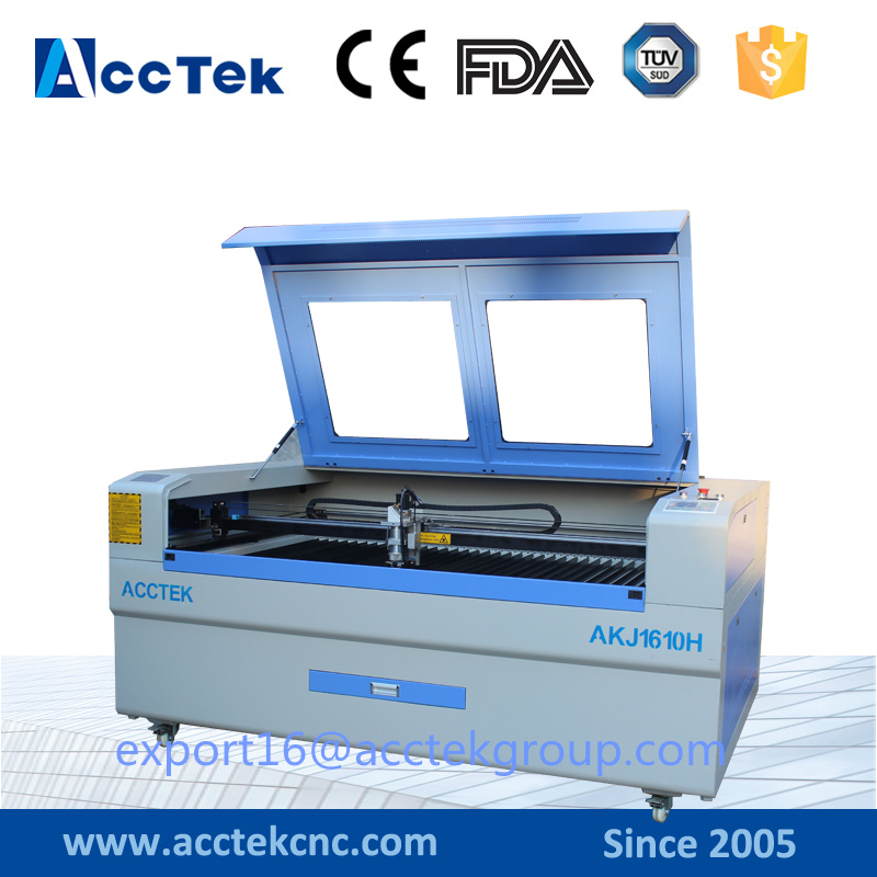 Macchina per taglio laser Co2 150w 1600X1000 in legno con design acrilico in metallo