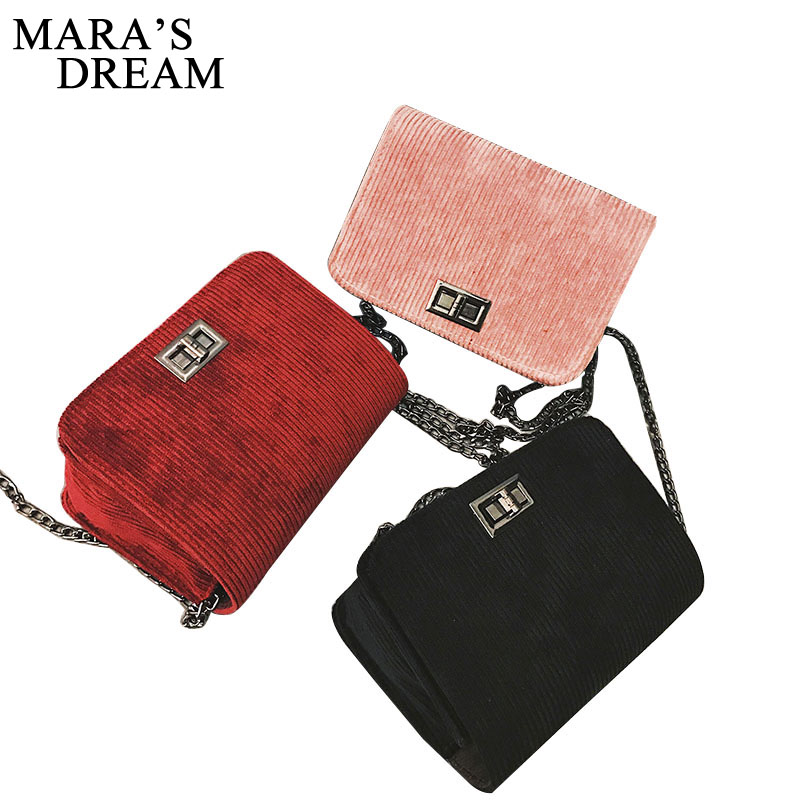 Mara's Dream Designer Sling Shoulder & Crossbody Bags Cotton Hasp Solid Chain Women Bag Handbags sac a main Women Messenger Bags 2018 floral luxury handbags women bag designer pu leather bag women messenger bags small chain crossbody shoulder bag sac a main