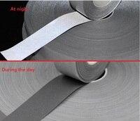 5 см * 5 м Светоотражающая сигнальная лента высокая видимость Серебряный светоотражающий защитный ремень