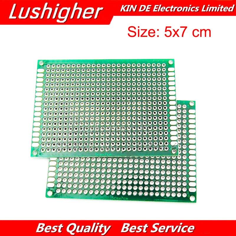 5 шт. PCB 5x7 см 5*7 см двухсторонний Прототип PCB Diy универсальная печатная плата