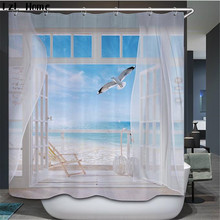 LzL Home Beautiful 3D Natural Scenery Shower Curtain Creative Polyester