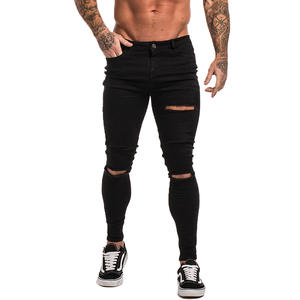 8cdf007f Gingtto Black Ripped Skinny Jeans Men Biker Jeans Pants