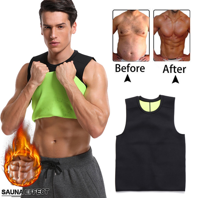 ab78d32148068 Mens Neoprene Waist Trainer Belly Slimming Men Vest Shapewear Control  Shapers Sweat Corset Girdle Belt Trimmer