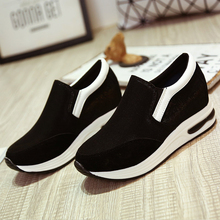 New 2016 height increasing casual shoes woman fashion breathable footwear outdoor women trainers autumn sport shoes women
